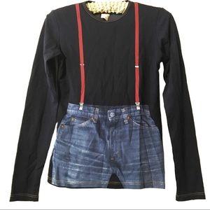 Gautier Jeans vintage l/s suspenders shirt large